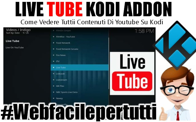 Live Tube Kodi Add on | Come Vedere Tuttii Contenuti Di Youtube Su Kodi