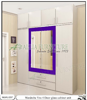 Lemari pakaian minimalis model cabinet unit Vns