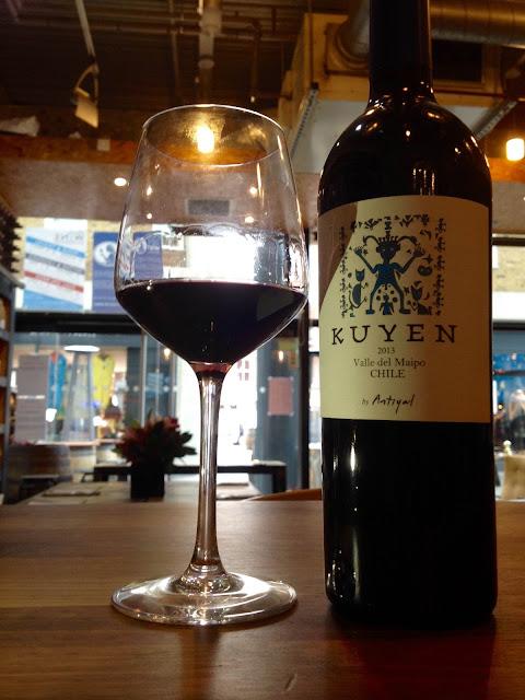 Bottle of Kuyen wine in wine shop
