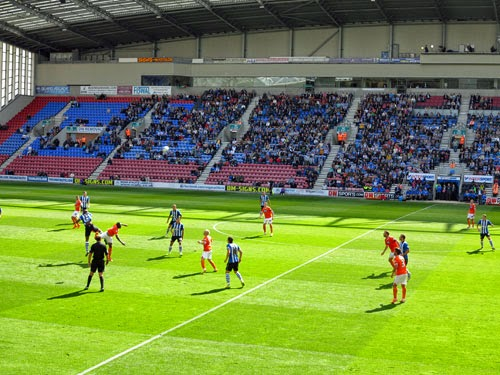 Wigan 1 v Blackpool 0.
