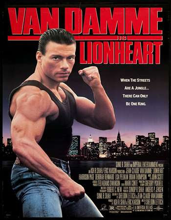 Poster Of Free Download Lionheart 1990 300MB Full Movie Hindi Dubbed 720P Bluray HD HEVC Small Size Pc Movie Only At worldfree4u.com