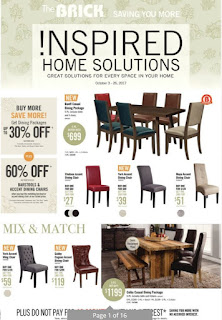 The Brick Flyer Inspired Home Solutions valid October 3 - 26, 2017