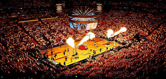 Arena do Jogo do Miami Heat e NBA