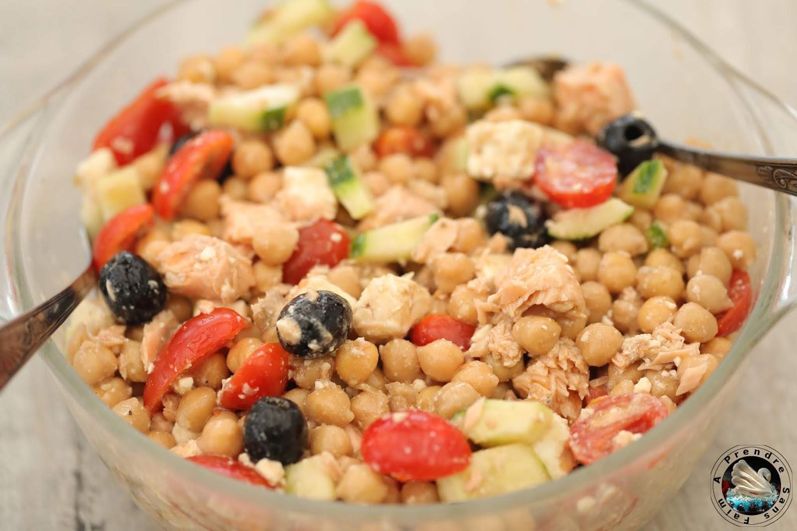 Salade de saumon grecque