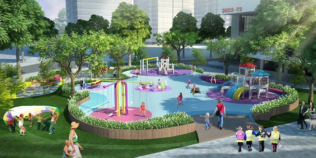 Không gian xanh vui chơi tại The K Park