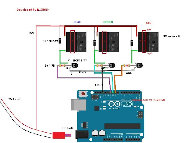 Power the Arduino with 9V