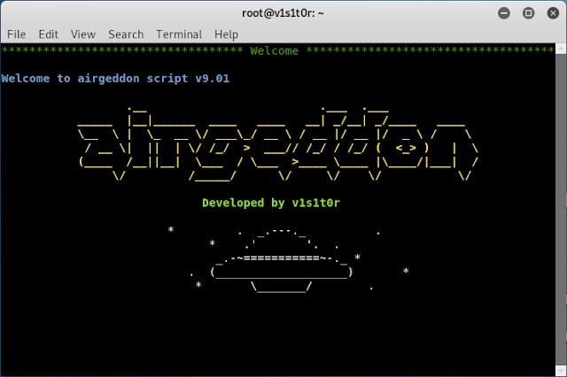 سكربت يضم ادوات اختراق شبكات الويفي airgeddon All-in-one Wireless Toolkit