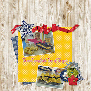 Ginger Scraps #2017 December Challenge   and Freebie Mini–