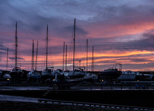 Photo of another view of the sunset at Maryport Marina