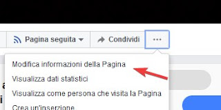Modificare la pagina facebook