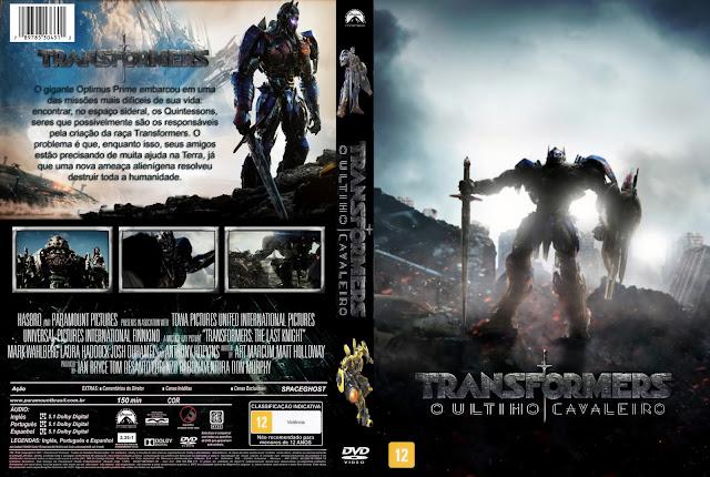 Capa DVD Transformers O Último Cavaleiro