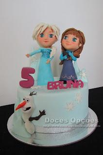 bolo aniversário frozen bragança