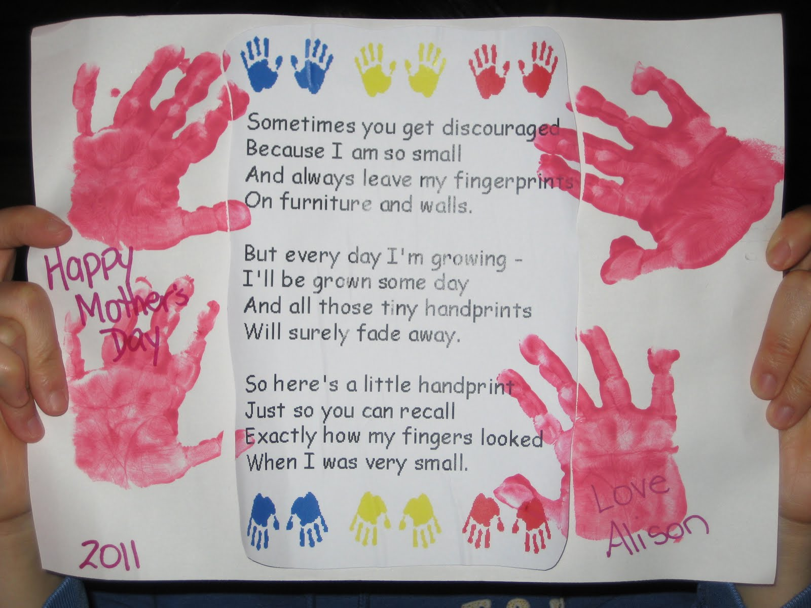 Opinion Mother s day handprint poems from children apologise