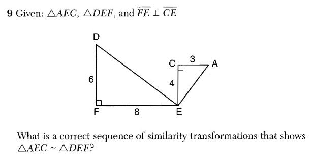 x, why?): August 2016 Common Core Geometry Regents, Part 1