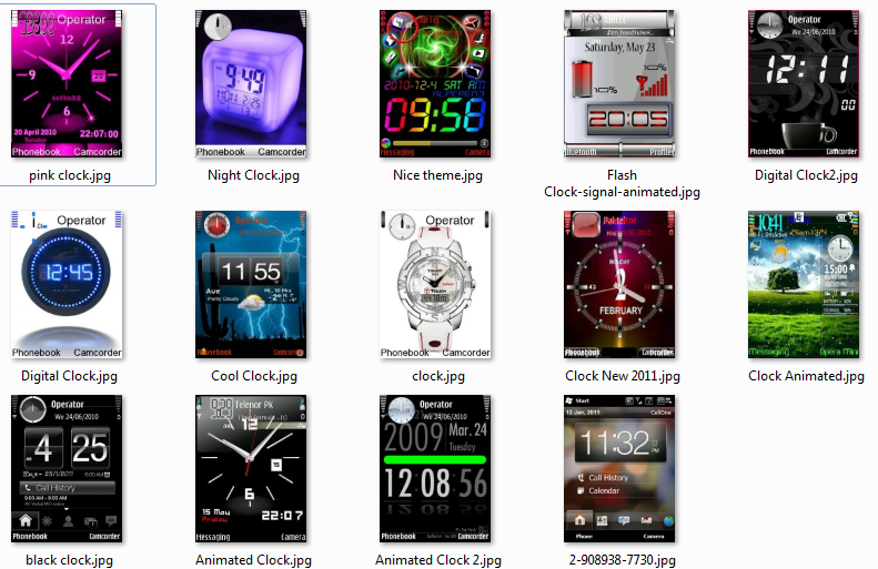 Download Movies Songs Mobile Stuff: Nokia Mobile Clock ...