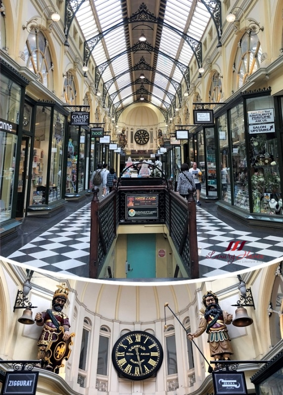 royal arcade melbourne gaunts clock