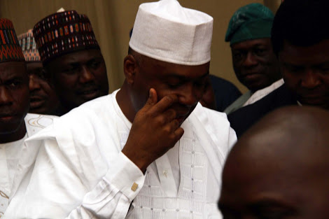 Photo of Saraki At Code Of Conduct Tribunal Yesterday For Corruption Trial