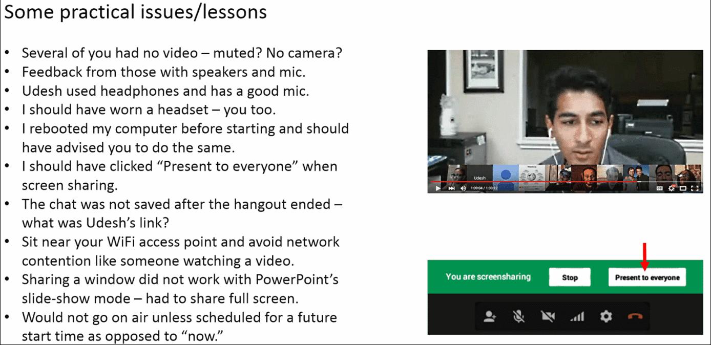 Cis 471 Google Hangouts On Air Is A Useful Evolving Teaching Medium
