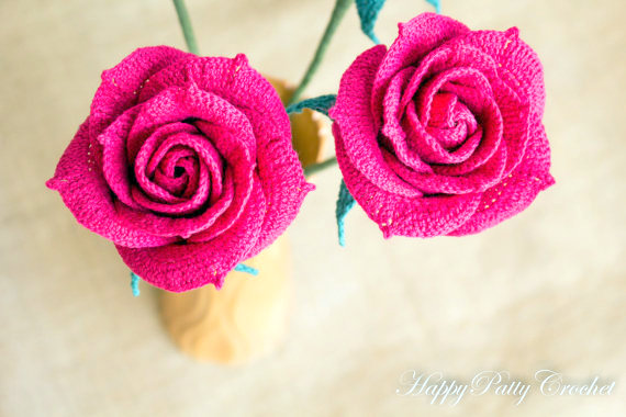Amigurumi rose crochet pattern