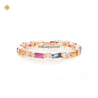 Nhẫn vàng đính đá quý ý tưởng thiết kế ánh sáng cuối cùng