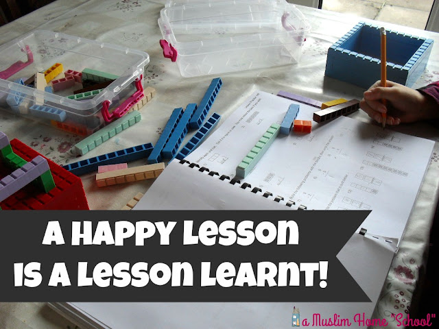 A happy home school lesson, is a lesson learnt!