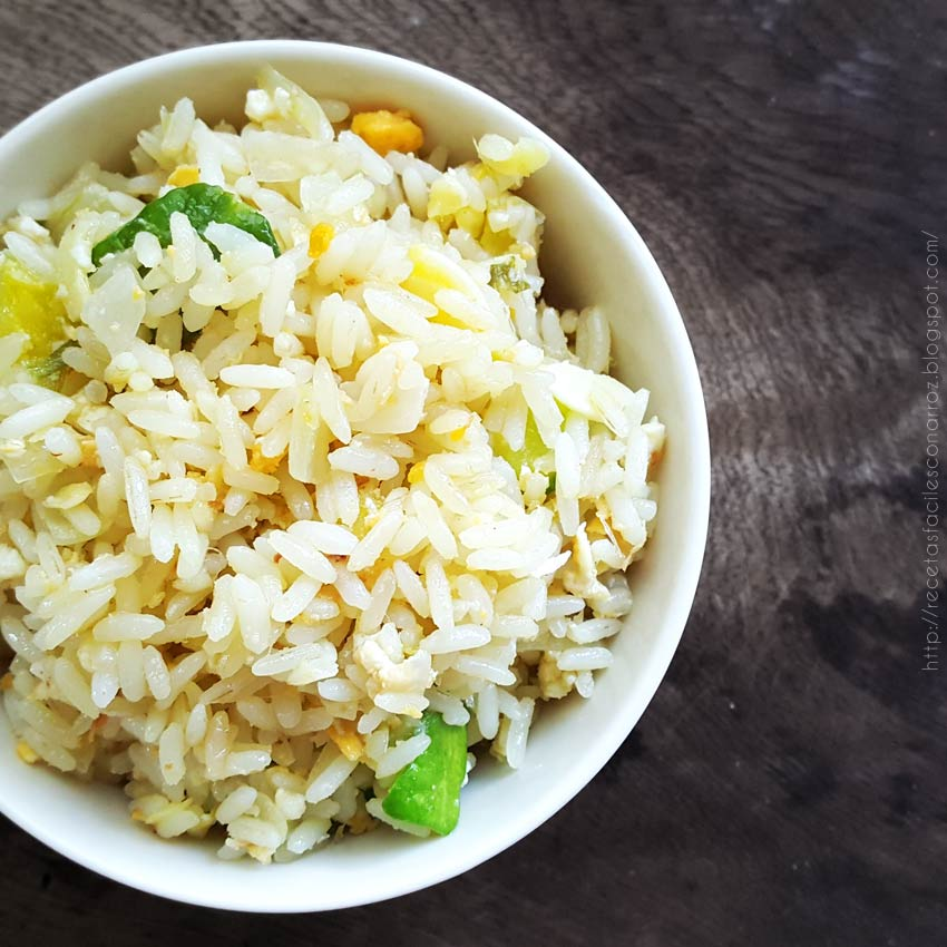 arroz con revuelto de zapallitos