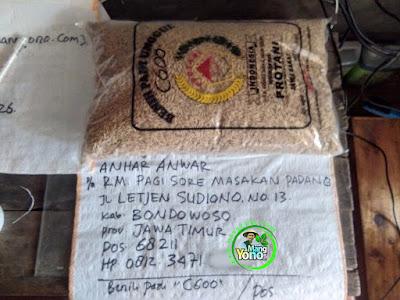 Benih Padi Pesanan    ANHAR ANWAR Bondowoso, Jatim    Benih Sebelum di Packing.