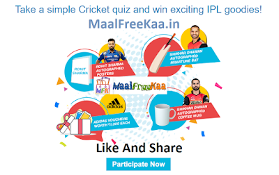Free IPL 2018 Ticket T-Shirt and goodies