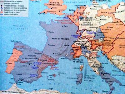 Mapa Politico de Europa en el siglo XVIII
