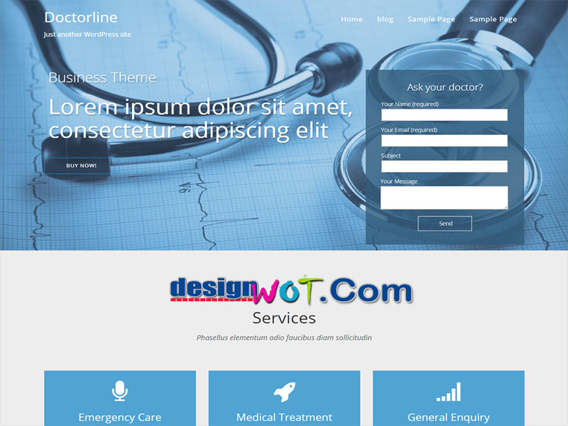 Doctorsline One Page Responsive Theme for WordPress