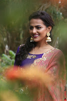 Actress Shraddha Srinath in Purple Chania Choli Cute Pics ~  Exclusive 25.jpg