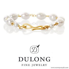 Crown Princess Mary Dulong Fine Jewelry Anello pearl bracelet freshwater pearls