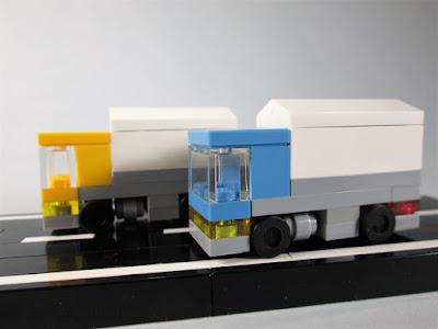 MOC LEGO Camiões em micro escala