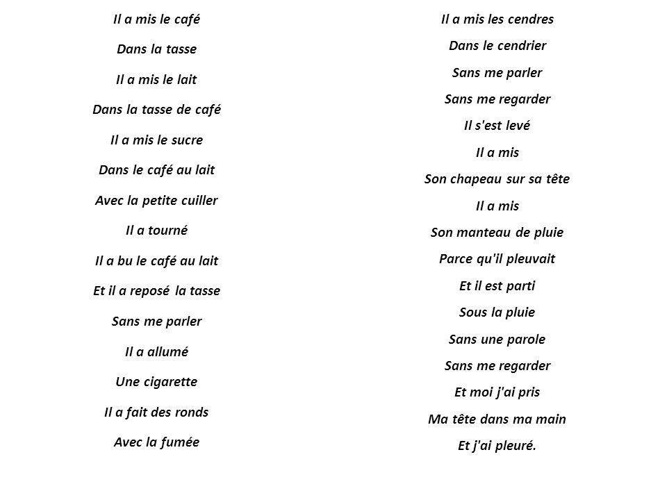 Blog Dv Français Déjeuner Du Matin De Jacques Prévert