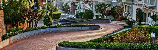 A view of Lombard Street