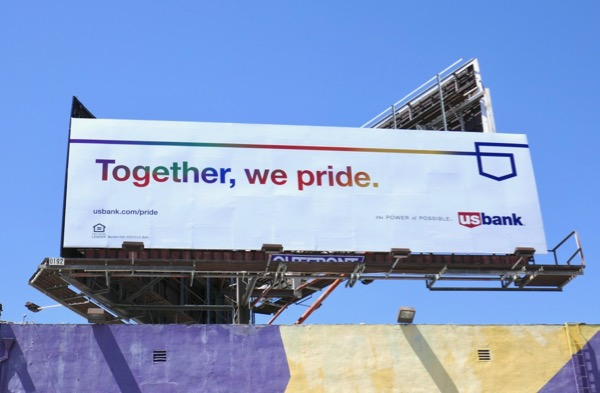 US Bank Together We Pride billboard