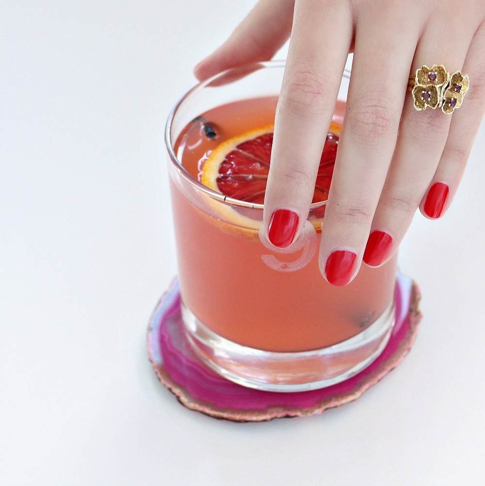 Pink vodka drink