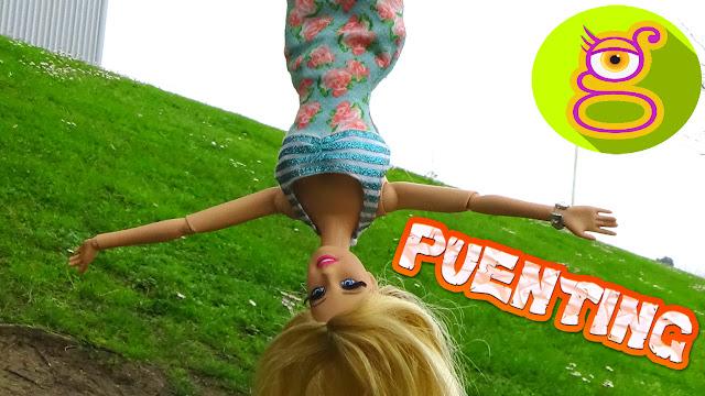¡Barbie hace Puenting por primera vez! - juguetes Barbie en español