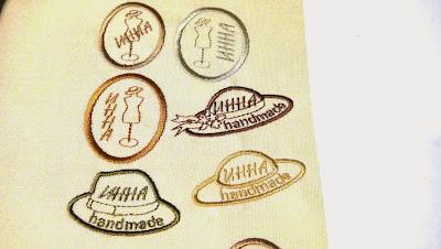 Бирки этикетки на изделия ручной работы - машинная вышивка на заказ