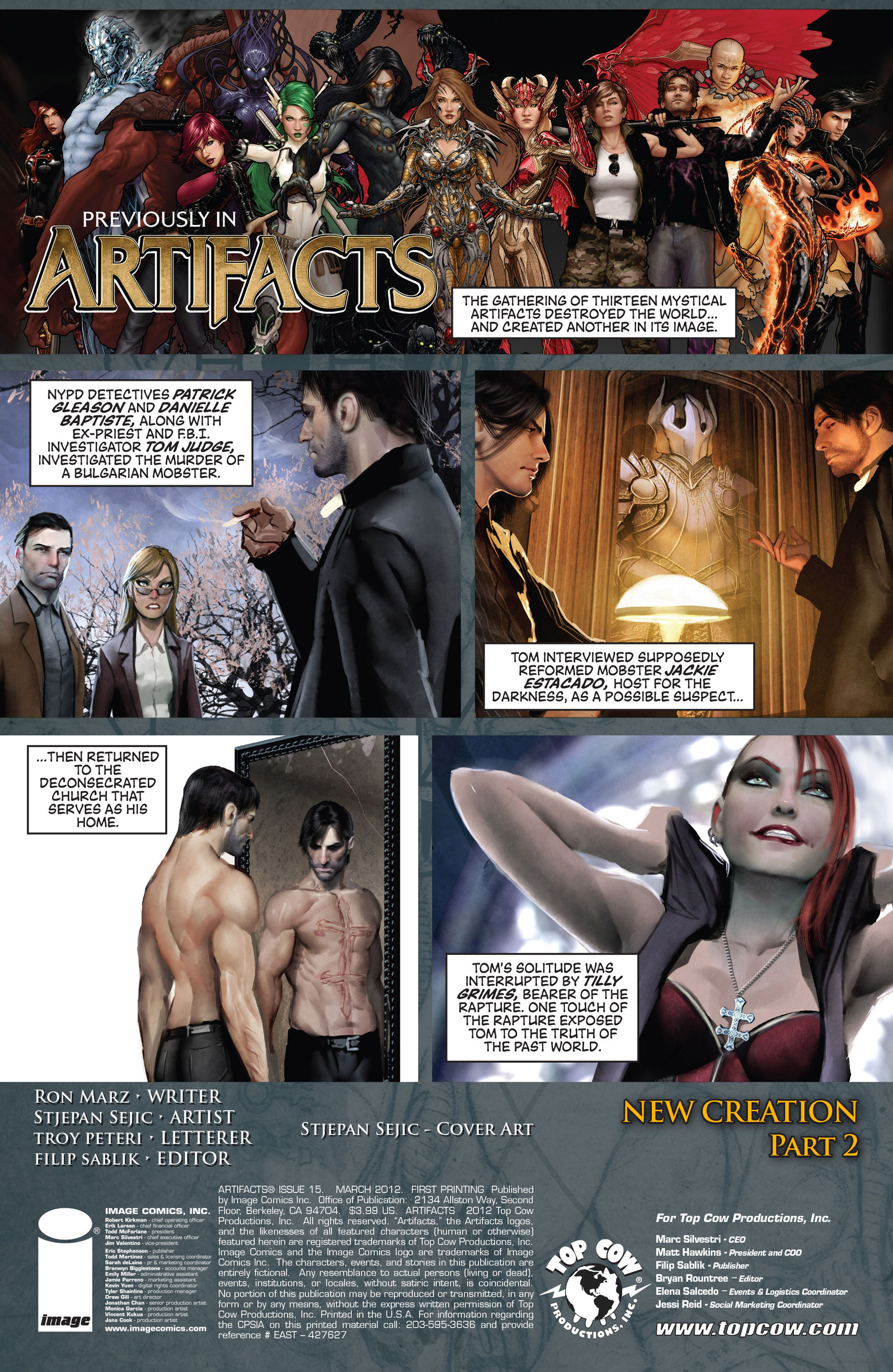 Read online Artifacts comic -  Issue #15 - 2