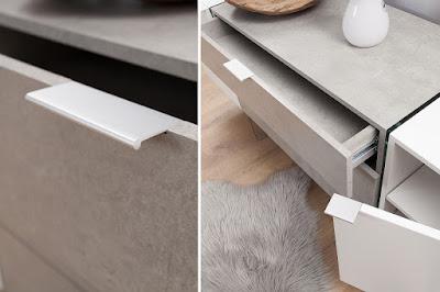 moderný nábytok Reaction, nábytok so sklom, nábytok s dizajnom kameňa