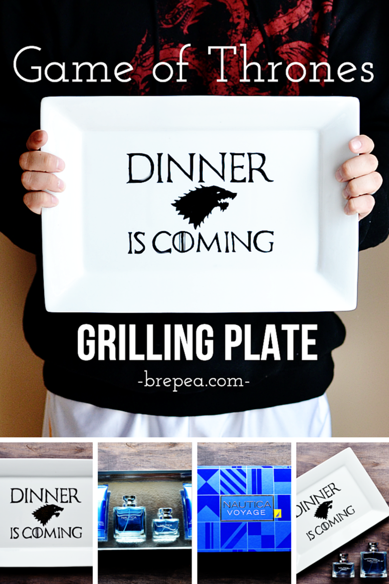 The perfect Father's Day gift for a Game of Thrones fan: DIY Game of Thrones Grilling Plate!