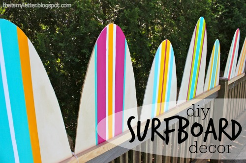 diy surfboard decor