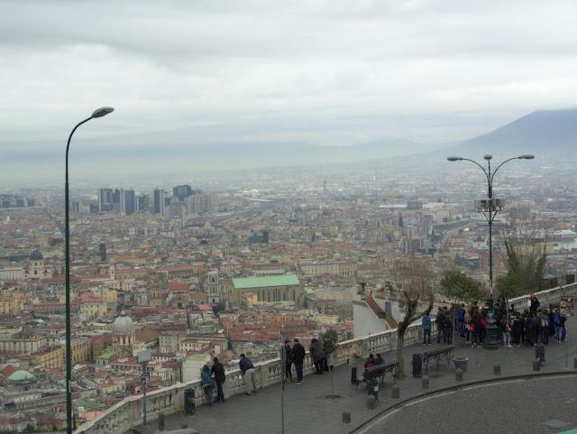 Neapol widok na miasto, panorama