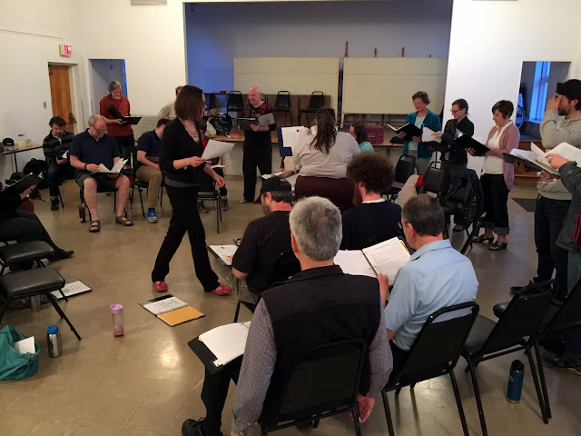 Rae changes places in a challenging choral exercise