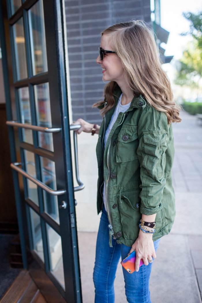 The BEST military jacket for fall!