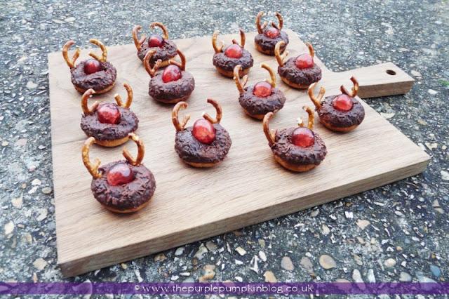 Rudolf the Red Nosed Reindeer Doughnuts | The Purple Pumpkin Blog