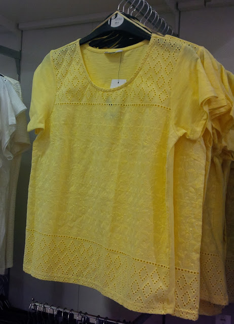 Yellow Embroidery Anglaise T-shirt