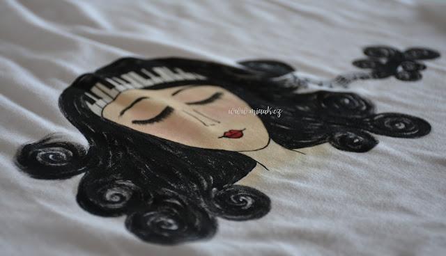 malované tričko - hudba