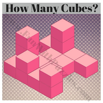 Image puzzle to count cubes in figure